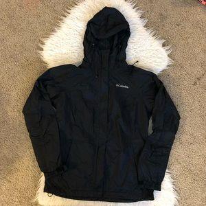 Columbia rain jacket coat black